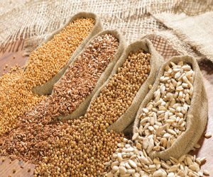 Grains from a famer's market